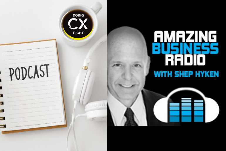 Shep Hyken Podcast Episode With Stacy Sherman About The Power of Wow Moments & DoingCXRight