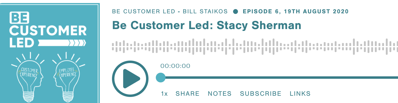 Listen To Stacy Sherman Talk About Customer Experience on Be Customer Led Podcast