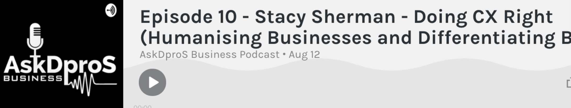 Listen to Stacy Sherman Speak on AskDPros about Doing CX Right