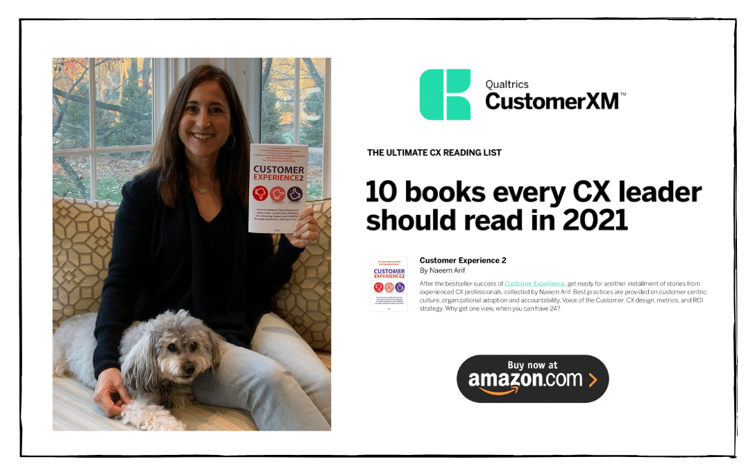 Stacy Sherman Customer Experience book Rated Top 10 by Qualtrics-SAP