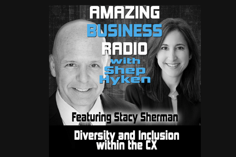 stacy sherman and shep hyken discuss diversity and inclusion within CX